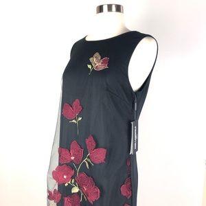 Karl Lagerfeld Dresses - KARL LAGERFELD shift dress 8 black embroidery d605